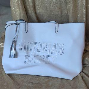 Victoria's Secret White Leather Bag